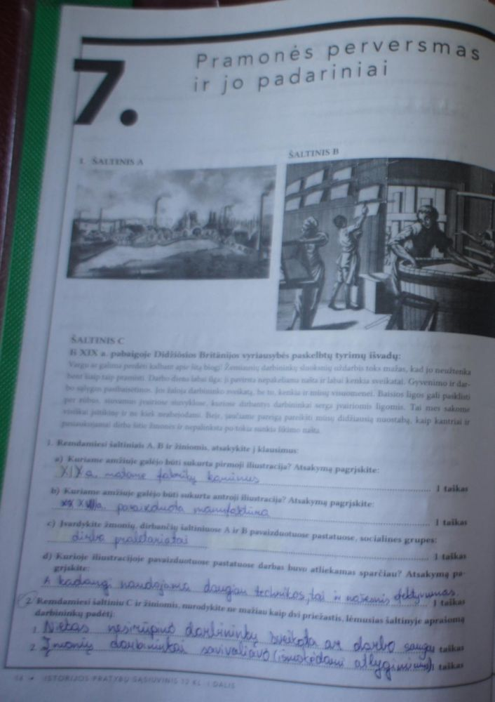 12 klasė, Istorijos pratybos - 1 dalis