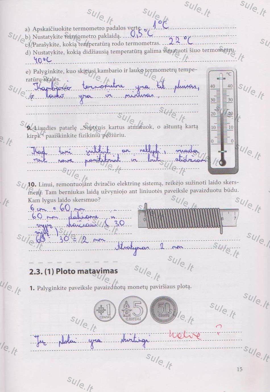 7 klasė, Fizikos pratybos 1 dalis