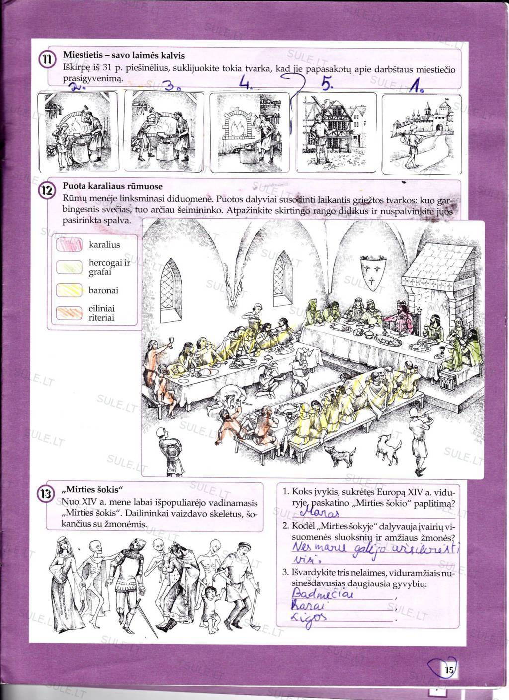 6 klasė, Pasaulio istorija