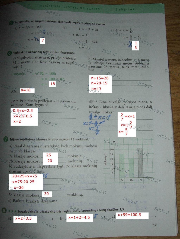 7 klasė, Matematika 1 ŠOK