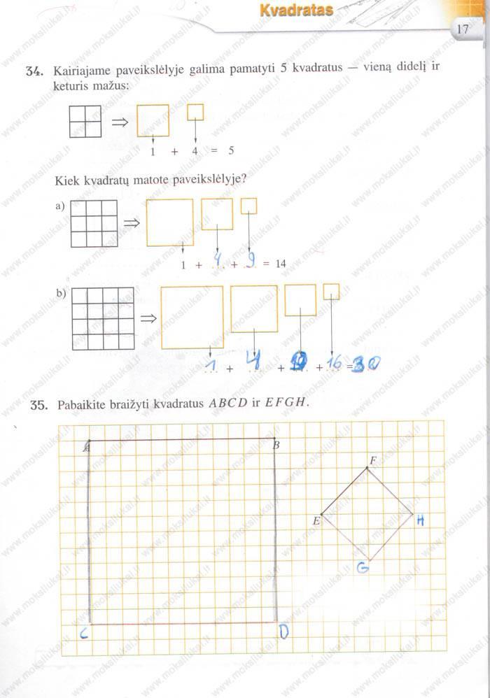 Matematika Tau 5 klasė - 1 dalis