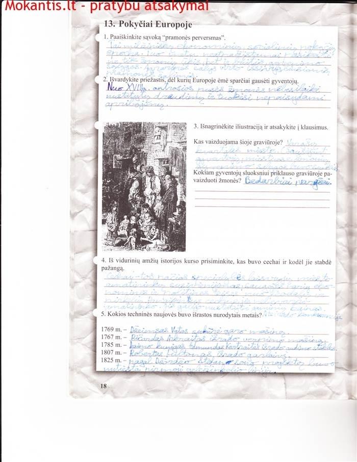 9 klasė, Naujųjų amžių istorija
