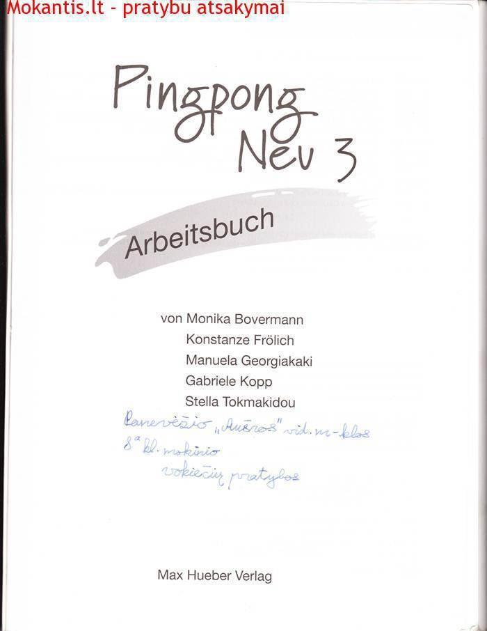 Vokiečių pratybos Pingpong nev 3
