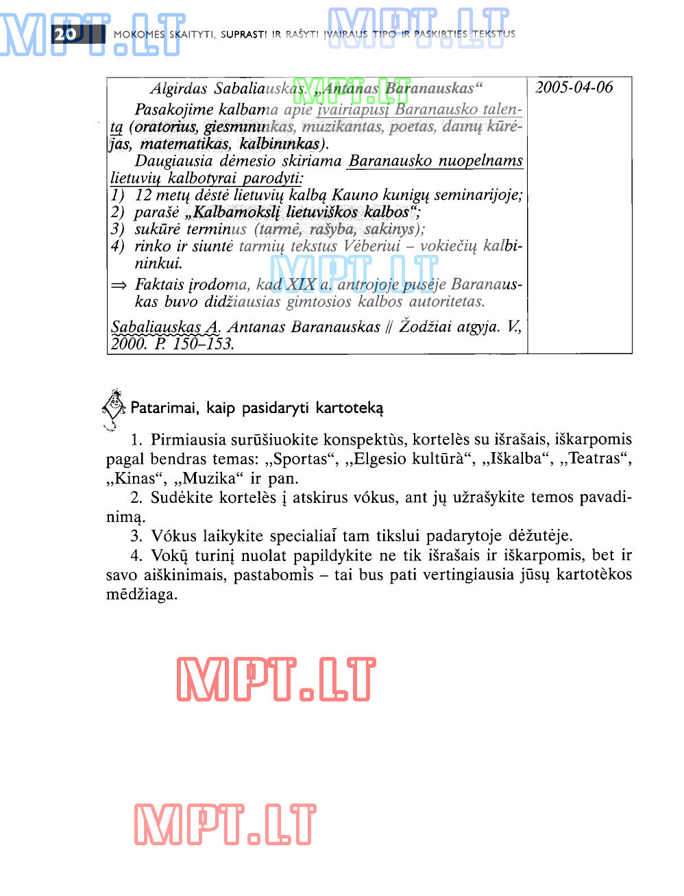Lietuvių kalba - Kurso konspektas