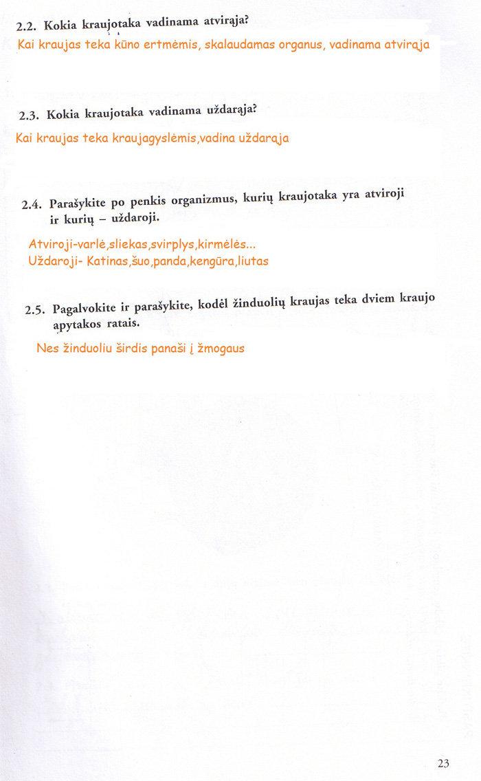 Biologija, Biologijos pratybos - 1 dalis