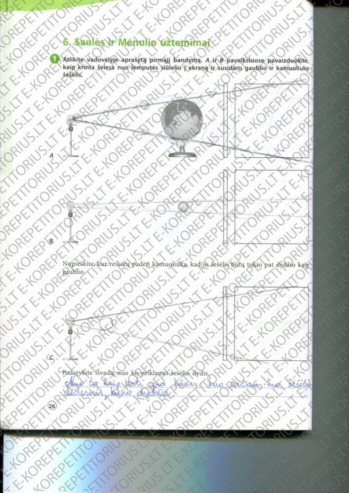 6 klase, Mokslininkų pėdomis - 1 dalis