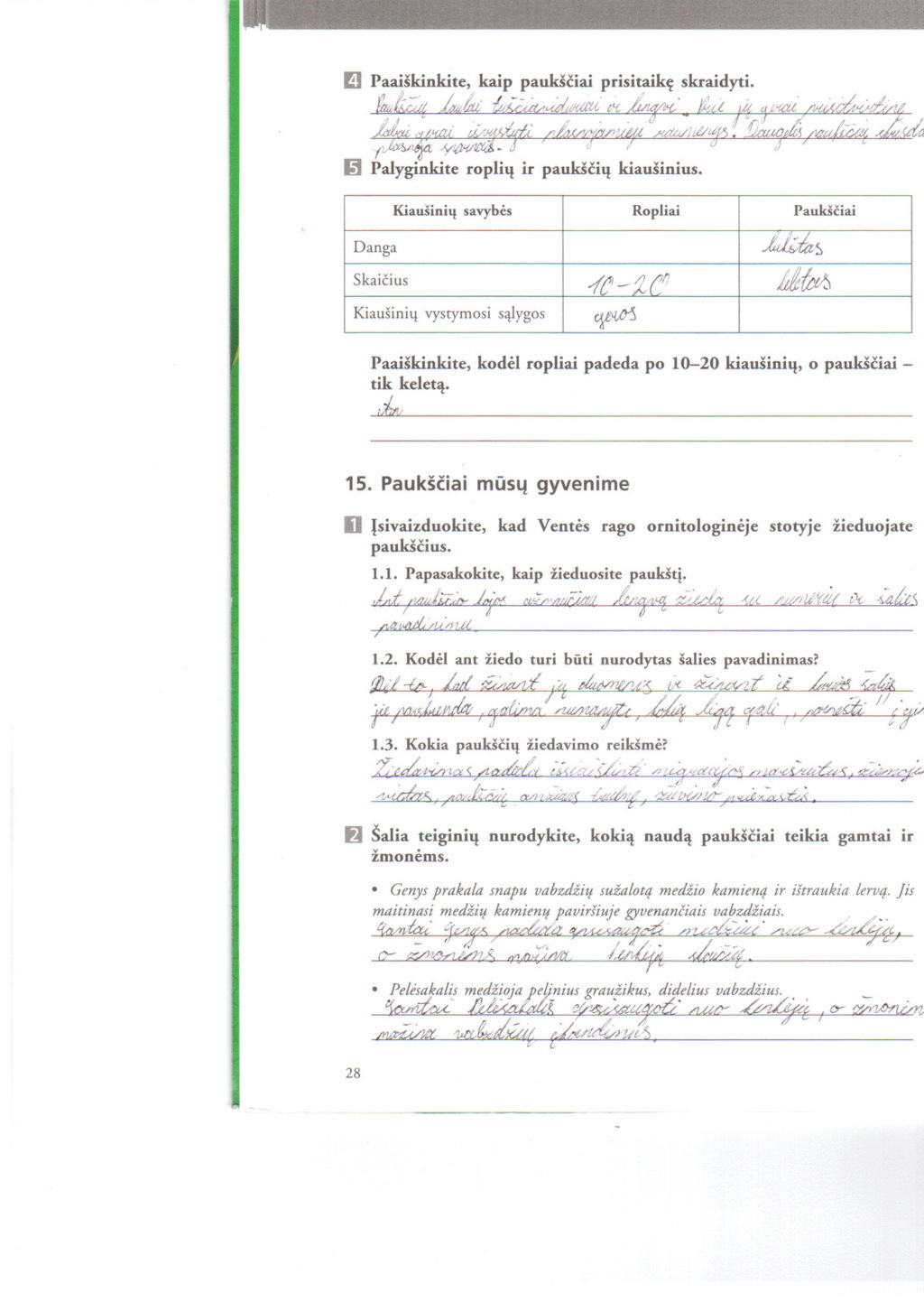 7 klasė, Biologija 7 - II dalis