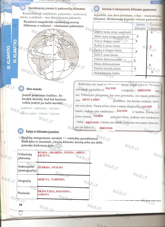7 klasė, Žemė - 1 dalis (naujos)