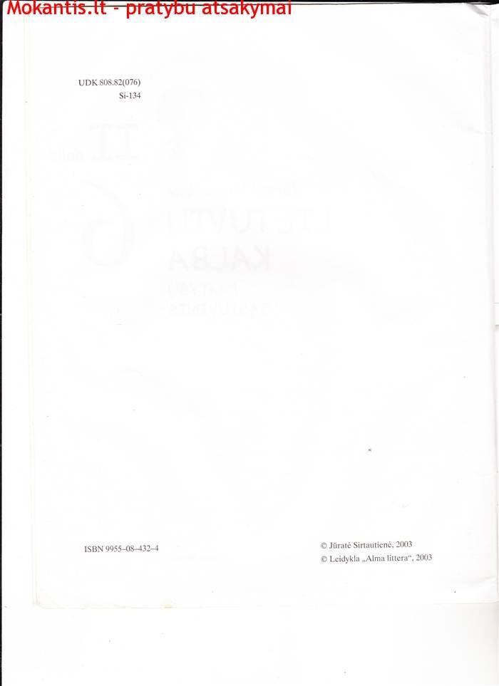 Lietuvių kalba 2 dalis