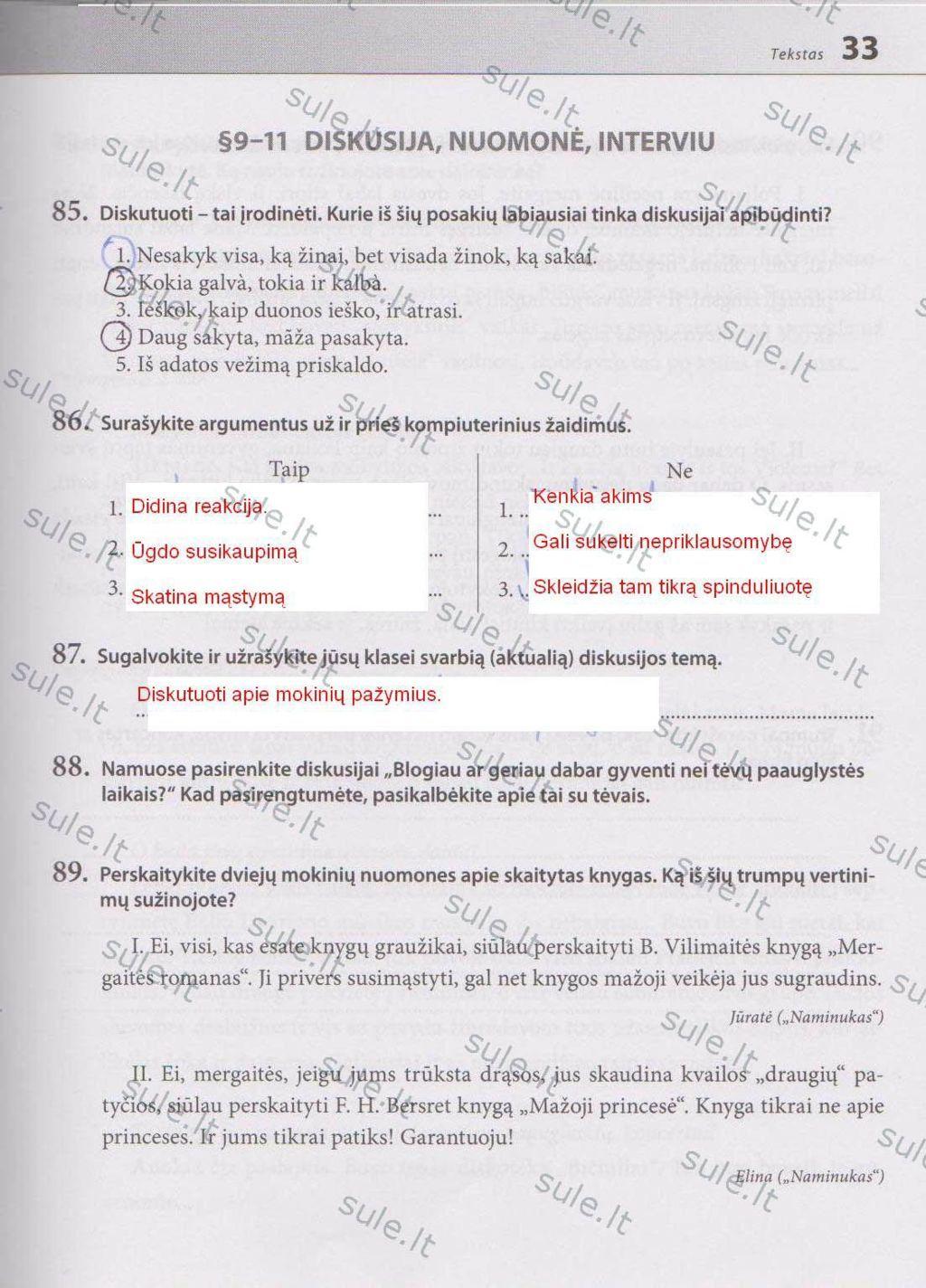 6 klase, Lietuvių kalba - 2 dalis