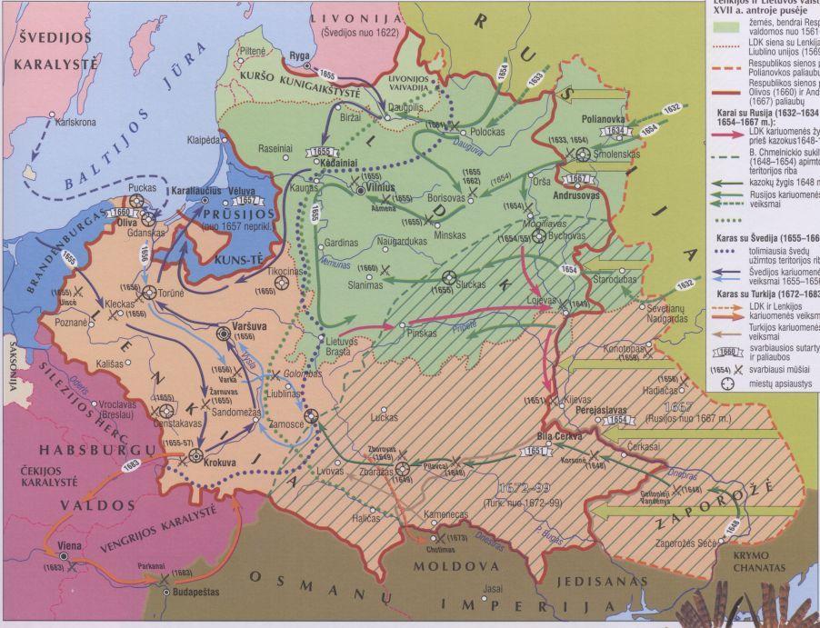 8 klasės Istorijos žemėlapiai