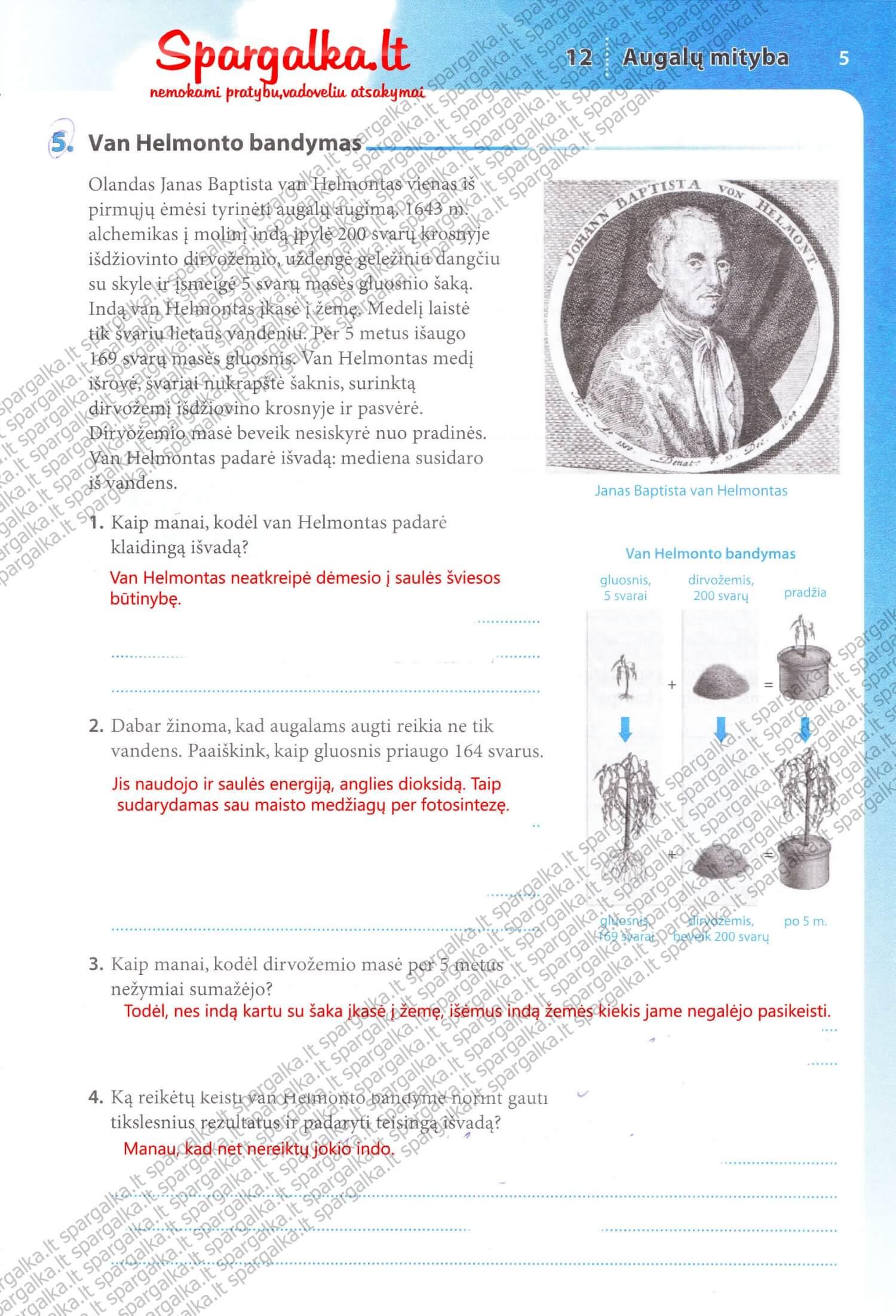 Biologija Tau 2 dalis pratybos