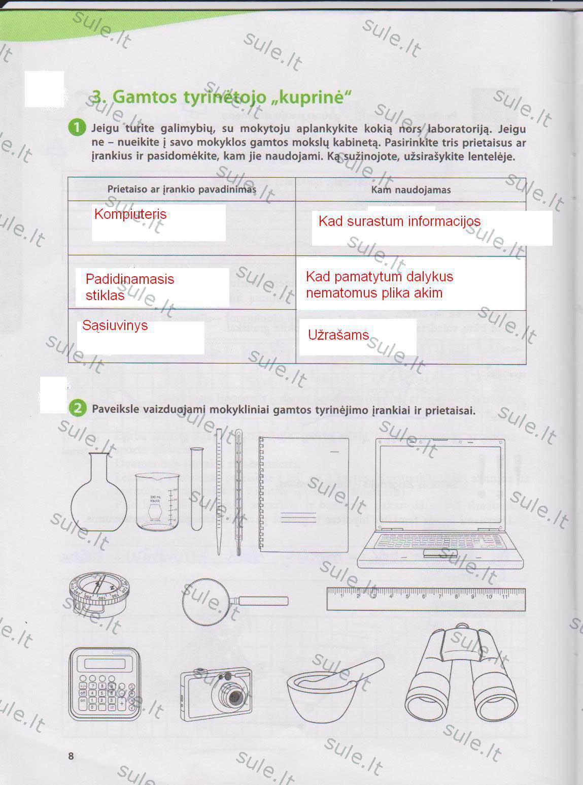 5 klasė Mokslininkų pėdomis - 1 dalis